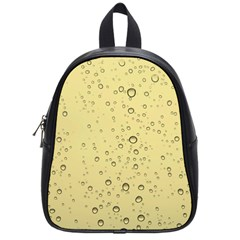 Yellow Water Droplets School Bag (Small)