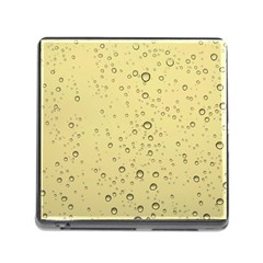 Yellow Water Droplets Memory Card Reader With Storage (square)