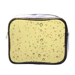 Yellow Water Droplets Mini Travel Toiletry Bag (one Side)