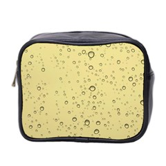 Yellow Water Droplets Mini Travel Toiletry Bag (Two Sides)