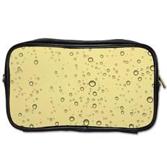 Yellow Water Droplets Travel Toiletry Bag (One Side)