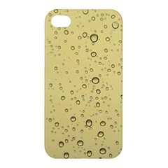 Yellow Water Droplets Apple Iphone 4/4s Premium Hardshell Case