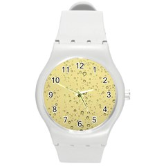 Yellow Water Droplets Plastic Sport Watch (medium)