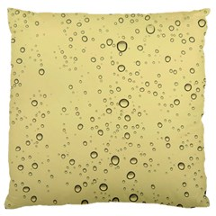 Yellow Water Droplets Large Cushion Case (Single Sided)