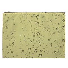 Yellow Water Droplets Cosmetic Bag (XXL)