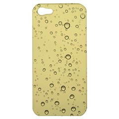 Yellow Water Droplets Apple iPhone 5 Hardshell Case