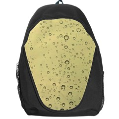 Yellow Water Droplets Backpack Bag