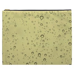 Yellow Water Droplets Cosmetic Bag (xxxl)