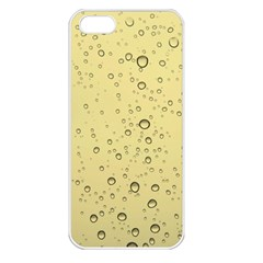 Yellow Water Droplets Apple iPhone 5 Seamless Case (White)