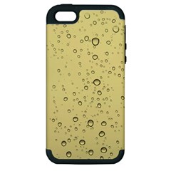 Yellow Water Droplets Apple Iphone 5 Hardshell Case (pc+silicone)