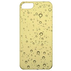 Yellow Water Droplets Apple iPhone 5 Classic Hardshell Case