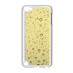 Yellow Water Droplets Apple iPod Touch 5 Case (White)