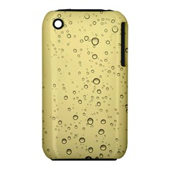Yellow Water Droplets Apple iPhone 3G/3GS Hardshell Case (PC+Silicone)