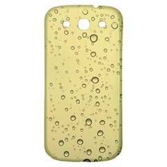 Yellow Water Droplets Samsung Galaxy S3 S Iii Classic Hardshell Back Case