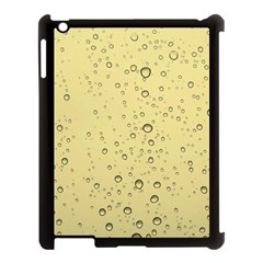 Yellow Water Droplets Apple Ipad 3/4 Case (black)