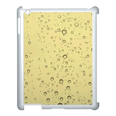 Yellow Water Droplets Apple Ipad 3/4 Case (white)