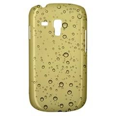 Yellow Water Droplets Samsung Galaxy S3 MINI I8190 Hardshell Case
