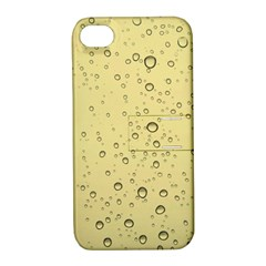 Yellow Water Droplets Apple Iphone 4/4s Hardshell Case With Stand