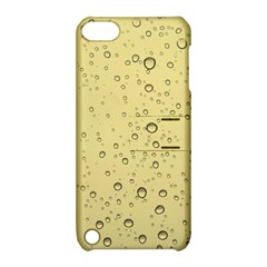Yellow Water Droplets Apple iPod Touch 5 Hardshell Case with Stand