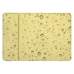Yellow Water Droplets Samsung Galaxy Tab 8.9  P7300 Flip Case