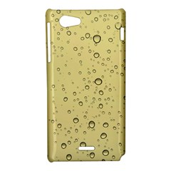Yellow Water Droplets Sony Xperia J Hardshell Case