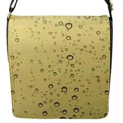 Yellow Water Droplets Flap Closure Messenger Bag (small)