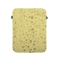 Yellow Water Droplets Apple iPad Protective Sleeve