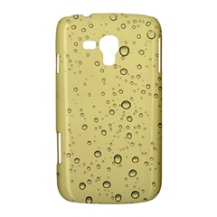 Yellow Water Droplets Samsung Galaxy Duos I8262 Hardshell Case