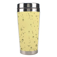 Yellow Water Droplets Stainless Steel Travel Tumbler