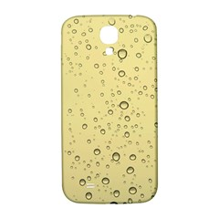 Yellow Water Droplets Samsung Galaxy S4 I9500/I9505  Hardshell Back Case
