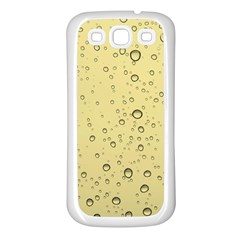 Yellow Water Droplets Samsung Galaxy S3 Back Case (White)