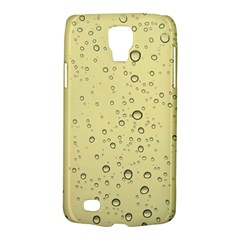 Yellow Water Droplets Samsung Galaxy S4 Active (I9295) Hardshell Case