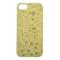 Yellow Water Droplets Apple iPhone 5S Hardshell Case