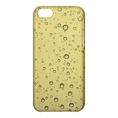 Yellow Water Droplets Apple iPhone 5C Hardshell Case