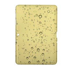 Yellow Water Droplets Samsung Galaxy Tab 2 (10 1 ) P5100 Hardshell Case