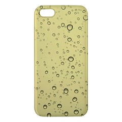 Yellow Water Droplets iPhone 5S Premium Hardshell Case