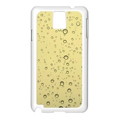 Yellow Water Droplets Samsung Galaxy Note 3 Case (White)