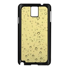Yellow Water Droplets Samsung Galaxy Note 3 Case (black)