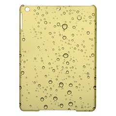 Yellow Water Droplets Apple iPad Air Hardshell Case