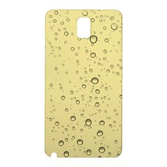 Yellow Water Droplets Samsung Galaxy Note 3 Hardshell Back Case