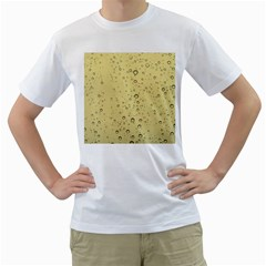 Yellow Water Droplets Men s T Shirt (white)
