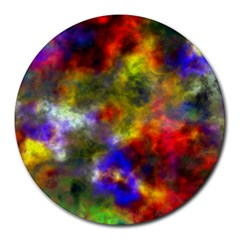 Deep Watercolors 8  Mouse Pad (Round)