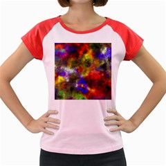 Deep Watercolors Women s Cap Sleeve T-Shirt (Colored)