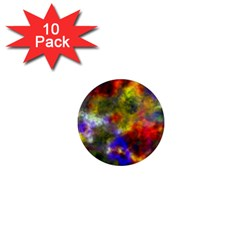 Deep Watercolors 1  Mini Button Magnet (10 pack)