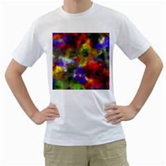 Deep Watercolors Men s Two-sided T-shirt (White)