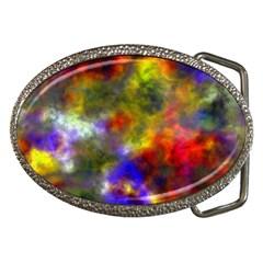 Deep Watercolors Belt Buckle (oval)