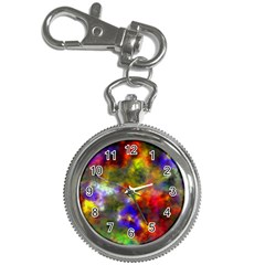 Deep Watercolors Key Chain Watch