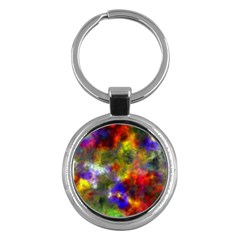 Deep Watercolors Key Chain (Round)