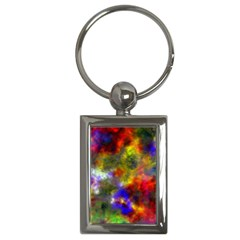 Deep Watercolors Key Chain (Rectangle)