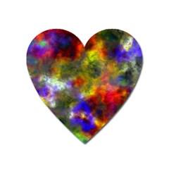 Deep Watercolors Magnet (Heart)